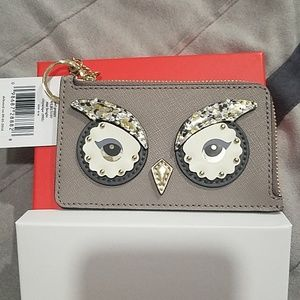 Kate Spade Owl Coin Wallet/Card Case/Keychain